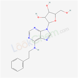 2-(hydroxymethyl)-5-[6-(phenethylamino)purin-9-yl]oxolane-3,4-diol cas  20125-39-7