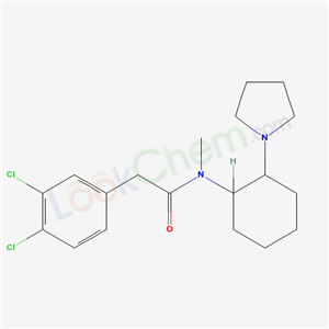 Molecular Structure of 67198-13-4 (2-(3,4-dichlorophenyl)-N-methyl-N-(2-pyrrolidin-1-ylcyclohexyl)acetamide)