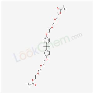 56744-46-8,2-[2-[2-[4-[2-[4-[2-[2-[2-(2-methylprop-2-enoyloxy)ethoxy]ethoxy]ethoxy]phenyl]propan-2-yl]phenoxy]ethoxy]ethoxy]ethyl 2-methylprop-2-enoate,