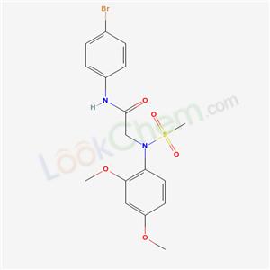 6187-46-8,N-(4-bromophenyl)-2-[(2,4-dimethoxyphenyl)-methylsulfonyl-amino]acetamide,