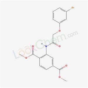 6158-89-0,dimethyl 2-[[2-(3-bromophenoxy)acetyl]amino]benzene-1,4-dicarboxylate,