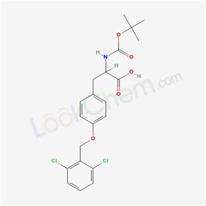 Molecular Structure of 40298-71-3 (O-[(2, 6-Dichlorophenyl)methyl]-N-[(1, 1-dimethylethoxy)carbonyl]-L-tyrosine)