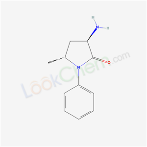 4915-39-3,(trans)-3-Amino-5-methyl-1-phenyl-2-pyrrolidinone,