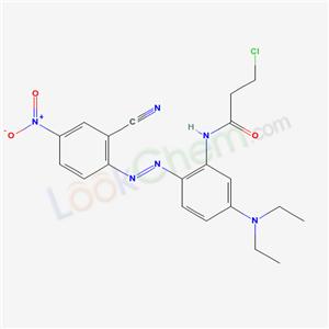 68214-65-3,3-Chloro-N-(2-((2-cyano-4-nitrophenyl)azo)-5-(diethylamino)phenyl)propionamide,