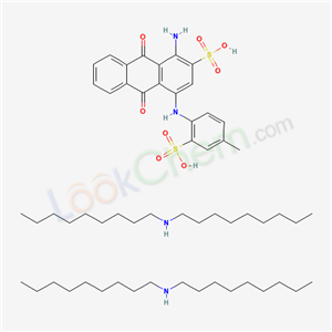 Molecular Structure of 68631-08-3 (1-Amino-9,10-dihydro-9,10-dioxo-4-(2-sulfo-p-toluidino)-2-anthracenesulfonic acid, bis(N,N-dioctylamine salt))