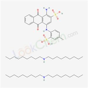 68631-08-3,1-Amino-9,10-dihydro-9,10-dioxo-4-(2-sulfo-p-toluidino)-2-anthracenesulfonic acid, bis(N,N-dioctylamine salt),