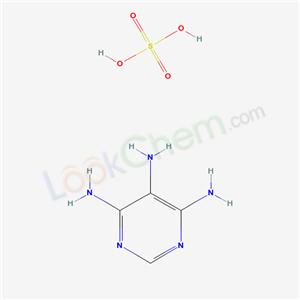 CAS NO:49721-45-1 4,5,6-Pyrimidinetriamine, sulfate (1:1) Molecular Structure