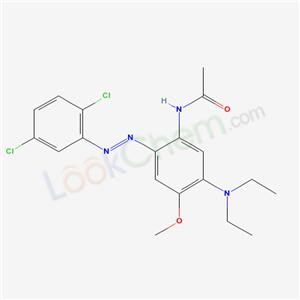 68877-36-1,N-[2-(2,5-dichlorophenyl)diazenyl-5-diethylamino-4-methoxy-phenyl]acetamide,