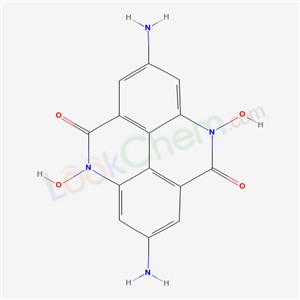58996-11-5,2,7-Diamino-4,9-dihydro-4,9-dihydroxypyrido(2,3,4,5-lmn)phenanthridine-5,10-dione,