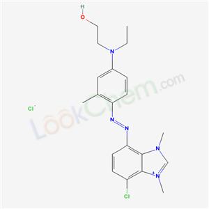 36116-31-1,5-Chloro-7-((4-(ethyl(2-hydroxyethyl)amino)-2-benzyl)azo)-1,3-dimethyl-1H-benzimidazolium chloride,