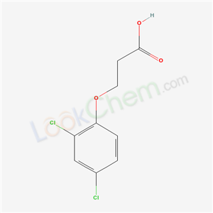 Molecular Structure of 3284-80-8 (Propanoic acid, 3-(2,4-dichlorophenoxy)-)