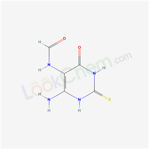 CAS NO:64194-62-3 N-(4-amino-6-oxo-2-sulfanylidene-3H-pyrimidin-5-yl)formamide Molecular Structure
