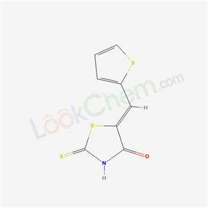 Molecular Structure of 6319-47-7 (2-sulfanylidene-5-(thiophen-2-ylmethylidene)thiazolidin-4-one)