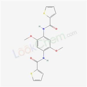 5635-52-9,N-[2,5-dimethoxy-4-(thiophene-2-carbonylamino)phenyl]thiophene-2-carboxamide,