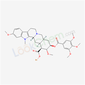 84057-91-0,Yohimban-16-carboxylic acid, bromo-11,17-dimethoxy-18-((3,4,5-trimethoxybenzoyl)oxy)-, methyl ester, (3beta,16beta,17alpha,18beta,20alpha)-,