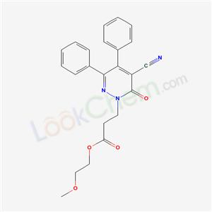 82232-79-9,2-methoxyethyl 3-(5-cyano-6-oxo-3,4-diphenyl-pyridazin-1-yl)propanoate,