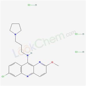 66748-22-9,Benzo(b)-1,5-naphthyridin-10-amine, 7-chloro-2-methoxy-N-(3-(1-pyrrolidinyl)propyl)-, trihydrochloride,