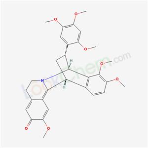 67701-63-7,8,13-Ethanodibenzo[a,g]quinolizinium,5,6,8,13- tetrahydro-3-hydroxy-2,9,10-trimethoxy-14- (2,4,5-trimethoxyphenyl)-,inner salt,(8R,13R,14R*)- ,