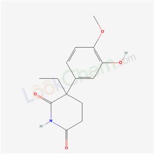 70303-65-0,2,6-Piperidinedione, 3-ethyl-3-(3-hydroxy-4-methoxyphenyl)-,