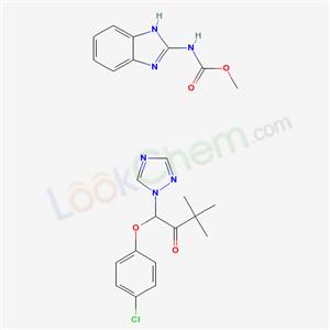 75448-56-5,1-(4-chlorophenoxy)-3,3-dimethyl-1-(1,2,4-triazol-1-yl)butan-2-one; methyl N-(1H-benzoimidazol-2-yl)carbamate,