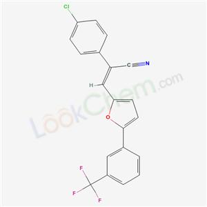 5772-21-4,(Z)-2-(4-chlorophenyl)-3-[5-[3-(trifluoromethyl)phenyl]-2-furyl]prop-2-enenitrile,
