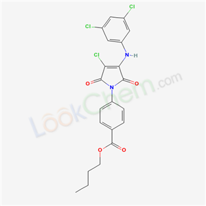 6888-03-5,butyl 4-[3-chloro-4-[(3,5-dichlorophenyl)amino]-2,5-dioxo-pyrrol-1-yl]benzoate,