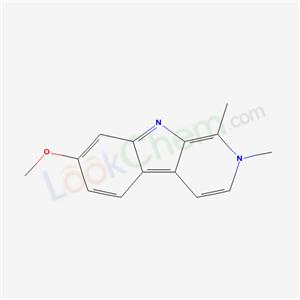 6519-18-2,2H-Pyrido(3,4-b)indole, 7-methoxy-1,2-dimethyl-,