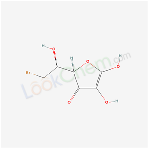 Molecular Structure of 62983-44-2 ((2R)-2-[(1R)-2-bromo-1-hydroxy-ethyl]-4,5-dihydroxy-furan-3-one)