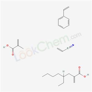 26873-77-8,2-Ethylhexyl acrylate, styrene, acrylonitrile, methacrylic acid polymer,2-Propenoic acid, 2-methyl-, polymer with ethenylbenzene, 2-ethylhexyl 2-propenoate and 2-propenenitrile;2-ETHYLHEXYLACRYLATE-ACRYLONITRILE-METHACRYLICACID-STYRENEPOLYMER