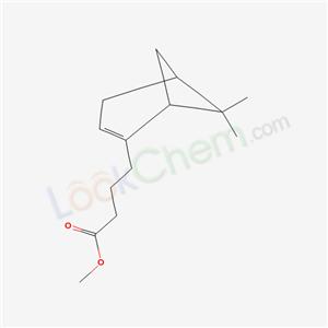 38049-29-5,Methyl 6,6-dimethylbicyclo(3.1.1)hept-2-ene-2-butyrate,