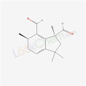 97165-23-6,(1S,6R)-1,3,3,6-tetramethyl-5,6-dihydro-2H-indene-1,7-dicarbaldehyde,
