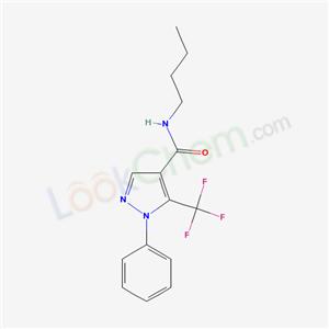 98534-38-4,N-butyl-1-phenyl-5-(trifluoromethyl)pyrazole-4-carboxamide,