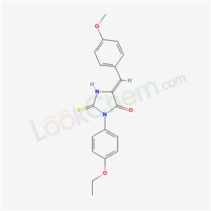 62468-57-9,(5Z)-3-(4-ethoxyphenyl)-5-[(4-methoxyphenyl)methylidene]-2-sulfanylidene-imidazolidin-4-one,