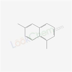 Molecular Structure of 575-43-9 (Naphthalene, 1,6-dimethyl- (8CI)(9CI))