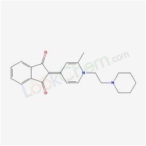 62295-52-7,2-[2-methyl-1-[2-(1-piperidyl)ethyl]pyridin-4-ylidene]indene-1,3-dione,