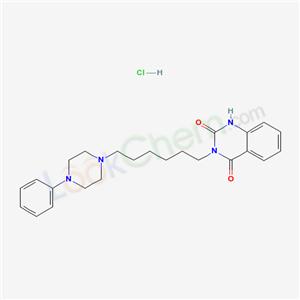 4120-74-5,2,4(1H,3H)-Quinazolinedione, 3-(6-(4-phenyl-1-piperazinyl)hexyl)-, monohydrochloride,