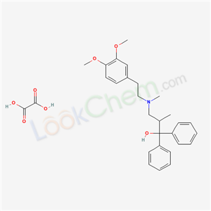alpha-(2-((3,4-Dimethoxyphenethyl)methylamino)-1-methylethyl)benzhydrol oxalate hydrate product picture