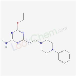 5311-06-8,1,3,5-Triazin-2-amine, 4-ethoxy-6-(2-(4-phenyl-1-piperazinyl)ethyl)-,