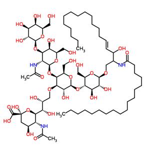 37758-47-7,Ganglioside GM1,GangliosideG4 (7CI);GM1-Ganglioside;Ganglioside A2;Ganglioside GGtet1;GangliosideGI;Ganglioside GM1a;Ganglioside M1;Sialosylganglio-N-tetraosylceramide;Sygen;