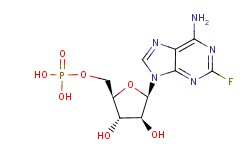 75607-67-9,Fludarabine phosphate,Fludarabine phosphate (JAN/USP);Fludarabine 5-monophosphate;9-beta-D-Arabinofuranosyl-2-fluoroadenine 5-(dihydrogen phosphate);Trimeric Sodium Phosphate;[(2R,3R,4S,5R)-5-(6-amino-2-fluoro-purin-9-yl)-3,4-dihydroxy-oxolan-2-yl]methoxyphosphonic acid;2-Fluoro-ARA AMP;Fludarabine phosphate [USAN:BAN];Fludarabine monophosphate;9-beta-Arabinofuranosyl-2-fluoroadenine-5-phosphate;Fludura;9H-Purin-6-amine, 2-fluoro-9-(5-O-phosphono-.beta.-D-arabinofuranosyl)-;2-Fluoroadenine arabinoside 5-monophosphate;fludarabine hcl;