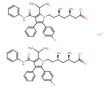Molecular Structure of 134523-03-8 (Atorvastatin calcium)