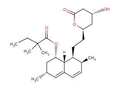 79902-63-9,Simvastatin,Butanoic acid,2,2-dimethyl-,(1S,3R,7S,8S,- 8aR)-1,2,3,7,8,8a-hexahydro-3,7-dimethyl-8- [2-[(2R,4R)-tetrahydro-4-hydroxy-6-oxo- 2H-pyran-2-yl]ethyl]-1-naphthalenyl ester;Colemin;Nivelipol;Butanoic acid, 2,2-dimethyl-, 1,2,3,7,8,8a-hexahydro-3,7-dimethyl-8-(2-(tetrahydro-4-hydroxy-6-oxo-2H-pyran-2-yl)ethyl)-1-naphthalenyl ester, (1S-(1alpha,3alpha,7beta,8beta(2S*,4S*),8abeta))-;Simvastatin [USAN:BAN:INN];Velostatin;Coledis;MK-733;Medipo;MK 0733;Simvastatin (COS);MK-0733;Labistatin;Simvastatine [French];Zocor (TN);(1S,3R,7S,8S,8aR)-8-{2-[(2R,4R)-4-hydroxy-6-oxotetrahydro-2H-pyran-2-yl]ethyl}-3,7-dimethyl-1,2,3,7,8,8a-hexahydronaphthalen-1-yl 2,2-dimethylbutanoate;Sivastin;Rendapid;Synvinolin;Corolin;Butanoic acid, 2,2-dimethyl-, (1S,3R,7S,8S,8aR)-1,2,3,7,8,8a-hexahydro-3,7-dimethyl-8-(2-((2R,4R)-tetrahydro-4-hydroxy-6-oxo-2H-pyran-2-yl)ethyl)-1-naphthalenyl ester;Liponorm;Lodales;Pantok;[(1S,3R,7R,8S,8aR)-8-[2-[(4R)-4-hydroxy-6-oxo-oxan-2-yl]ethyl]-3,7-dimethyl-1,2,3,7,8,8a-hexahydronaphthalen-1-yl] 2,2-dimethylbutanoate;Lipex;Vasotenal;