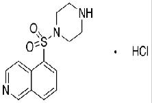 Molecular Structure of 141543-63-7 (1-(5-Isoquinolinesulfonyl)piperazine Hydrochloride)