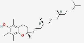 Molecular Structure of 1406-18-4 (Vitamin E)