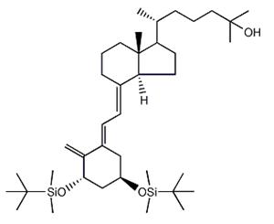 Molecular Structure of 140710-98-1 (9,10-Secocholesta-5,7,10(19)-trien-25-ol,1,3-bis[[(1,1-dimethylethyl)dimethylsilyl]oxy]-,(1,3,5E,7E)-(9CI))