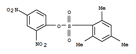 Molecular Structure of 1048-37-9 (Benzenesulfonic acid,2,4,6-trimethyl-, 2,4-dinitrophenyl ester)