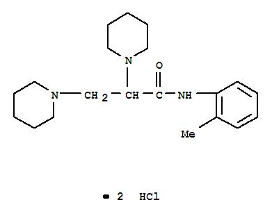 110053-12-8,o-Propionotoluidide,2,3-dipiperidino-, dihydrochloride (6CI),