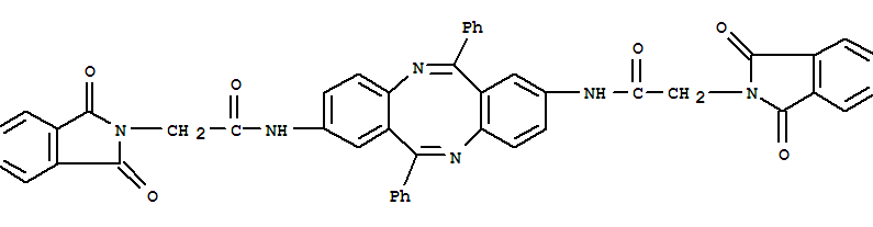 130189-63-8,2H-Isoindole-2-acetamide,N,N'-(6,12-diphenyldibenzo[b,f][1,5]diazocine-2,8-diyl)bis[1,3-dihydro-1,3-dioxo-(9CI),Dibenzo[b,f][1,5]diazocine,2H-isoindole-2-acetamide deriv.