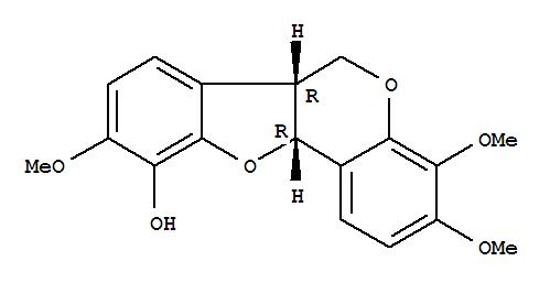 101153-42-8,6H-Benzofuro[3,2-c][1]benzopyran-10-ol,6a,11a-dihydro-3,4,9-trimethoxy-, (6aR,11aR)-,6H-Benzofuro[3,2-c][1]benzopyran-10-ol,6a,11a-dihydro-3,4,9-trimethoxy-, (6aR-cis)-; (-)-Odoricarpan; Odoricarpan