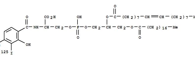 124155-78-8,L-Serine,N-[4-azido-2-hydroxy-3-(iodo-125I)benzoyl]-,3-[2-[(1-oxo-9-octadecenyl)oxy]-3-[(1-oxooctadecyl)oxy]propyl hydrogenphosphate], [R-(Z)]- (9CI),4-azidosalicylic acid-phosphatidylserine